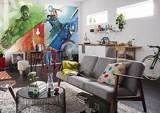 Giant wallpaper 368x254cm Avengers mosaic for kids boys bedroom wall mural