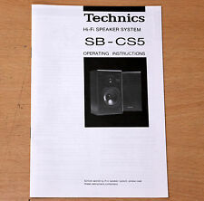 TECHNICS SB-CS5 original Speakers owner user manual 99p NR