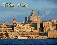 Malta - VALLETTA - Travel Souvenir FLEXIBLE Fridge MAGNET
