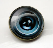 ZP407 Camera Lens Domed Cabochon Pin Badge Brooch Badge Optical Gothic Steampunk