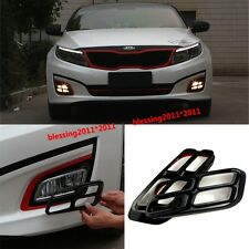 2pcs x Black 4 Eyes DRL Day Fog Driving Light/Lamp Cover For Kia K5 Optima 2014