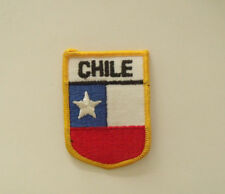 Bandera Chile Flag Shield Patch