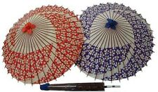 DM-Z00125 KASA SAKURA Blue Umbrella Japan Japanese Antique Rare JyanomeGasa Cute