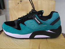 SAUCONY GRID 9000 BUNGEE PACK GREEN BLACK NEW DESTOCK 11 US / 45 EU / 10 UK