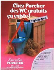 PUBLICITE ADVERTISING 095  1984  PORCHER  sanitaires wc SALONS DE BAIN