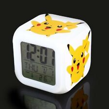 NEW! Pokemon Pikachu 7 Color Changing LED Night Light Alarm Clock Watch Toy Gift