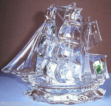 Waterford Tall Ship Crystal Sculpture Made in IRELAND New In Box