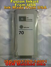 compatible INK Cartridge lgy light gray for HP 70 C9451A z3200 z5200 z2100 rjh
