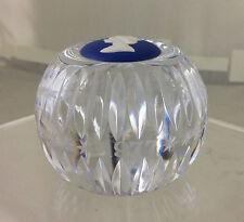 Wedgwood Crystal & Royal Blue Jasperware QUEEN ELIZABETH II Paperweight 1977