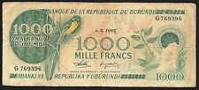 Burundi Banknote - 1000 Mille Francs - 1982 Issue - Old Rare