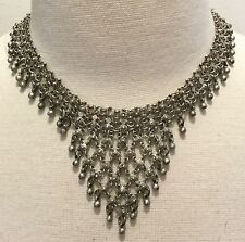 Antique Handcrafted 800 or 900 Silver PERSIAN Bib Collar Necklace - 51.6 Grams!