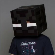 "Minecraft 12"" Enderman Cardboard Head Mask Box Cosplay Costume Halloween NEW"