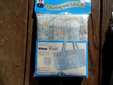 Knitting with Fabric KIT Fabri Wedgewood Nursery Tote Shabby Baby Chic Pink Rose