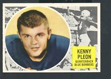1960 Topps Canadian Football Card #84 Kenny Pleon-Winnipeg Blue Bombers