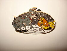 Disney Pin Trading Lady and the Tramp Valentine's Day Snowing Snow Heart LT LE