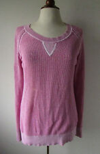 Womens A PEA IN THE POD Maternity Pink Open Knit Sweater ~ Medium (S1)