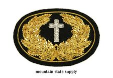 Civil War Embroidered Chaplain's Cross Large Hat Cap Kepi Badge Patch Insignia