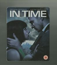 IN TIME - UK EXCLUSIVE BLU RAY STEELBOOK - NEW & SEALED