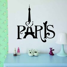 Eiffel Tower Paris Love Vinyl Art Quotes Wall Stickers Home Mural Decal Decor