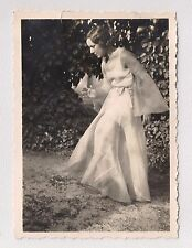 Woman in Evening Gown Posing as Mannequin Artistic Fashion Vintage Photograph