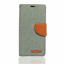 PREMIUM MERCURY CANVAS DIARY WALLET FLIP COVER FOR SONY XPERIA Z1 (GREY)