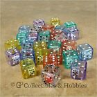 NEW Set of 30 Double Six Sided Dice - 6 Colors D6 Game RPG Math 19mm Koplow