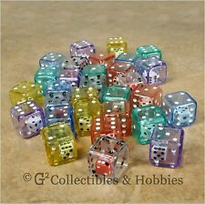 New Set of 30 Double Six Sided Dice D6 Game Rpg Math