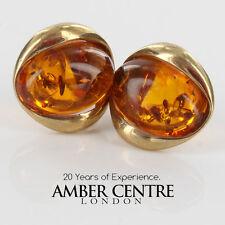 Italian Made Ámbar Aretes En Oro Italiano 9 CT-GS0055 PVP £ 149