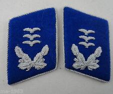 original  LW  Luftwaffe  Paar Kragenspiegel Offizier Sanitäter Arzt  selten