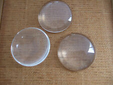 New 20pcs Transparent Glass Cameos 28mm Cabochon Fittings For Blank Settings Gem