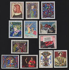 1964 to 1966 selection of mint French Art France stamps