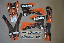 FLU DESIGNS PTS TEAM KTM GRAPHICS 2005 2006 SXF  SX & 2006 2007 EXC XCFW  XCW