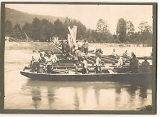 3 occupational/ military / engineers /WW1?cabinet photos building pontoon bridge