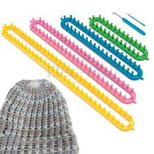 4 Sizes Long Knit Knitting Looms Knitter Plastic Sock Scarf Hat Yarn Craft Kit