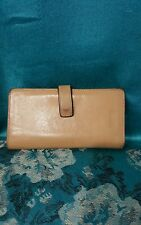COACH Small Beige Leather WALLET FLAP & SNAP GUC.