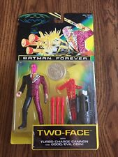 Batman Forever Two-Face Action Figure Turbo Sharge Cannon & Good/Evil Coin NIP