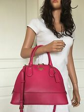 NWT COACH SEXY HOT PINK LEATHER SATCHEL SHOULDER CROSSBODY HANDBAG PURSE BAG