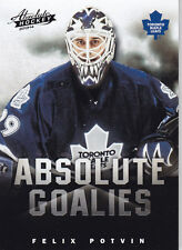 2013-14 PANINI ABSOLUTE BOXING DAY FELIX POTVIN ABSOLUTE GOALIES THICK #16 13-14