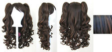 20'' Lolita Wig + 2 Pig Tails Set Chocolate and Mocha Brown Mix Gothic Sweet NEW
