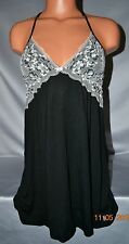 Victorias Secret Padded Modal Racerback Slip Night Gown Babydoll NWT S