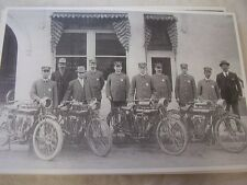 EARY TEENS MOTORCYCLE  LINE UP POLICE DEPT ?  12 X 18 LARGE PICTURE   PHOTO