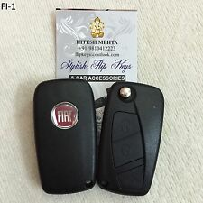 Original Fiat Flip Key for Punto/Linea (With Battery terminal and crystal logo)