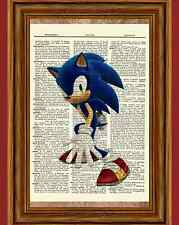 Sonic the Hedgehog Dictionary Art Print Picture Poster Game Gaming Sega