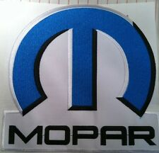 """MOPAR Patch 8 1/2"""" x 8"""" Iron-On PLYMOUTH DODGE CHRYSLER HOT ROD DRAGSTER"""