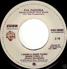 PIA ZADORA I Know A Good Thing When I Feel It ((**NEW 45**)) from 1979