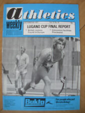 ATHLETICS WEEKLY OCTOBER 8th 1977 DAVE OTTLEY UK JAVELIN THROWER