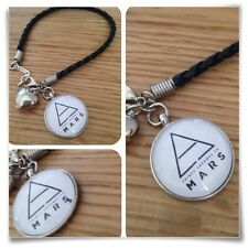 30 seconds to mars Echelon 3STM round necklace Triad charm BRACELET