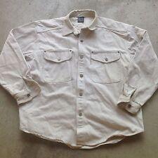 Vtg 90s Karl Kani Jeans Beige Color Denim XL Jacket Cross Hip Hop Urban Shirt