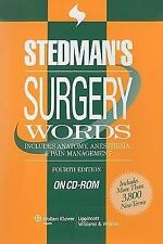 Stedman's Surgery Words, Fourth Edition, on CD-ROM, , New Book