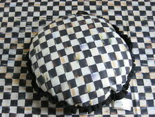 "Mackenzie Childs COURTLY CHECK/STRIPE 15"" Diameter RUFFLED ROUND PILLOW NEW mc15"